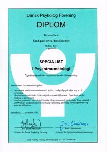 Specialist i psykotraumatologi - diplom